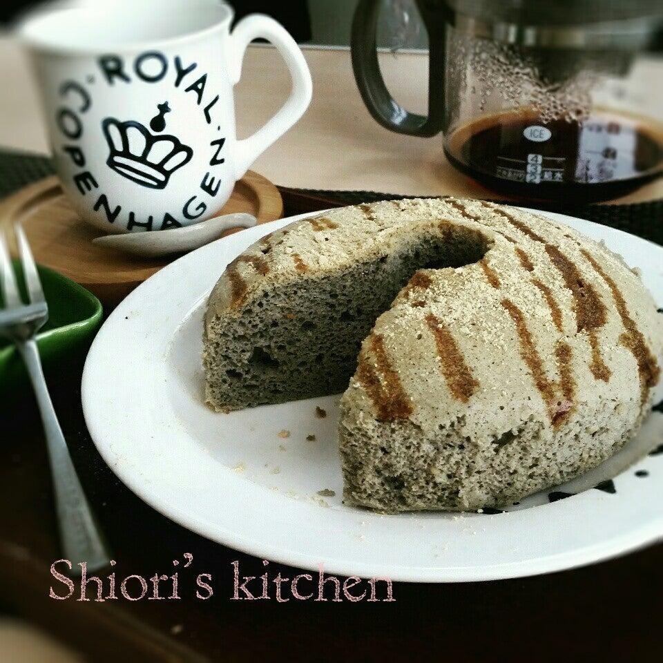 豆腐黒ごまシフォンケーキ