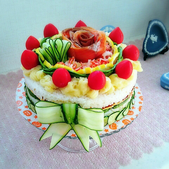 寿司ケーキ3