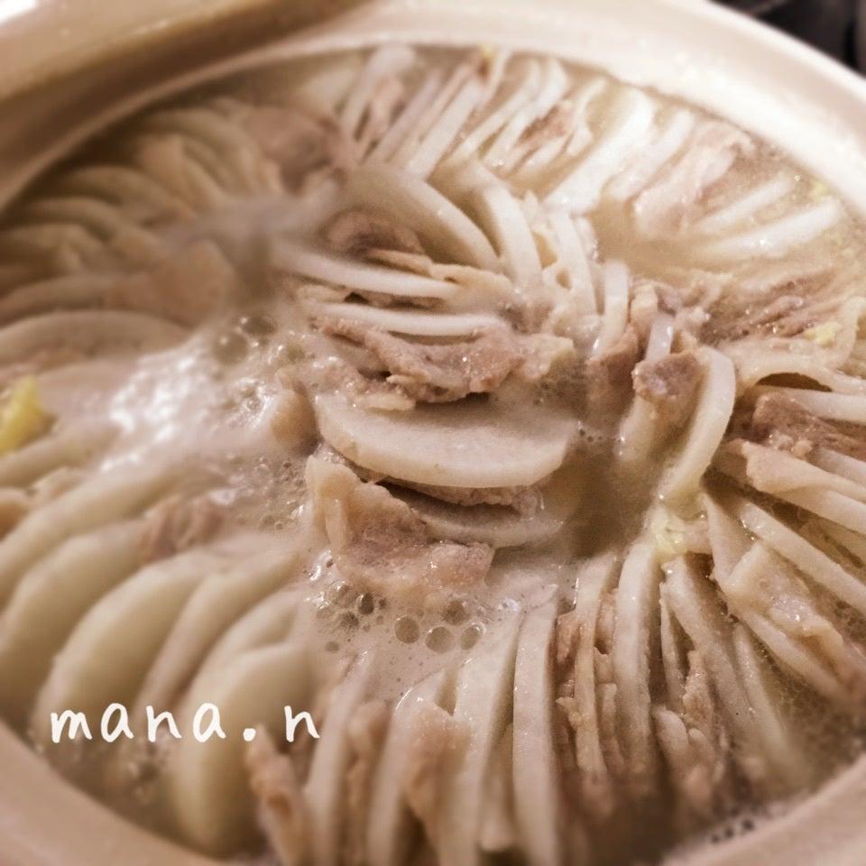 豚バラ白菜ならぬ\u2026豚バラ大根のミルフィーユ鍋