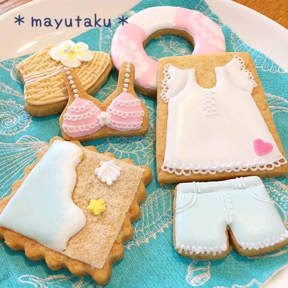 3.水着がテーマの夏クッキー