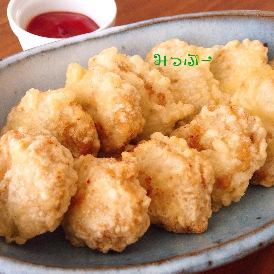 天ぷら粉でカリカリチキンナゲット