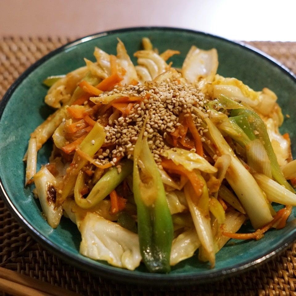 野菜のピリ辛甘味噌炒め