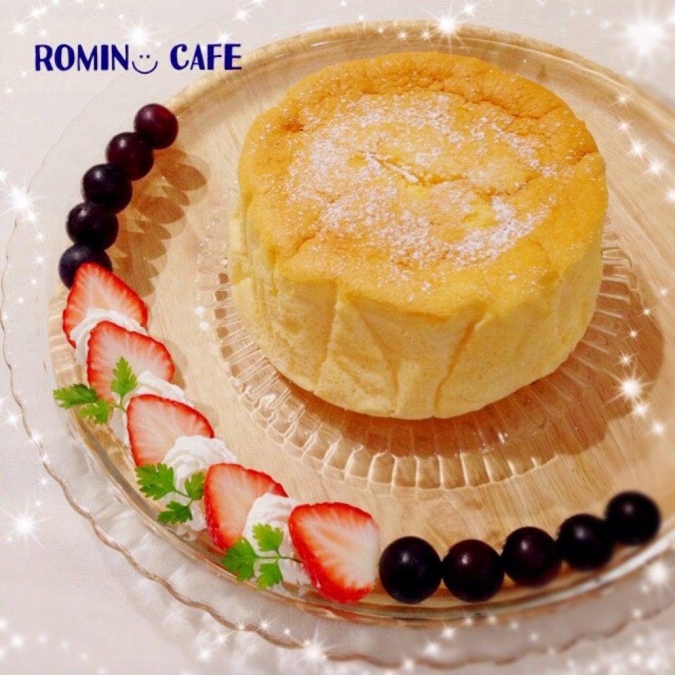 ホワイトチョコでスフレチーズケーキ