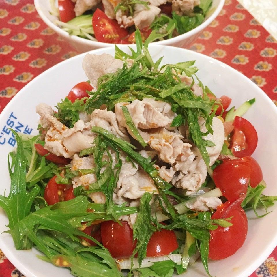 4. 冷しゃぶ中華麺サラダ