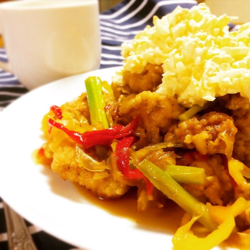 カラフル野菜のチキン南蛮
