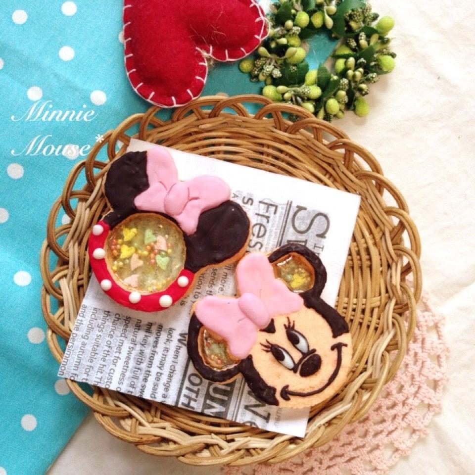 ミッキーとミニーのシャカシャカクッキーの画像