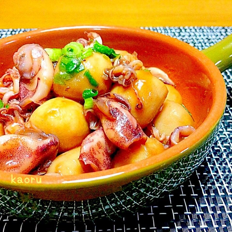 冷凍里芋と豆イカの煮物