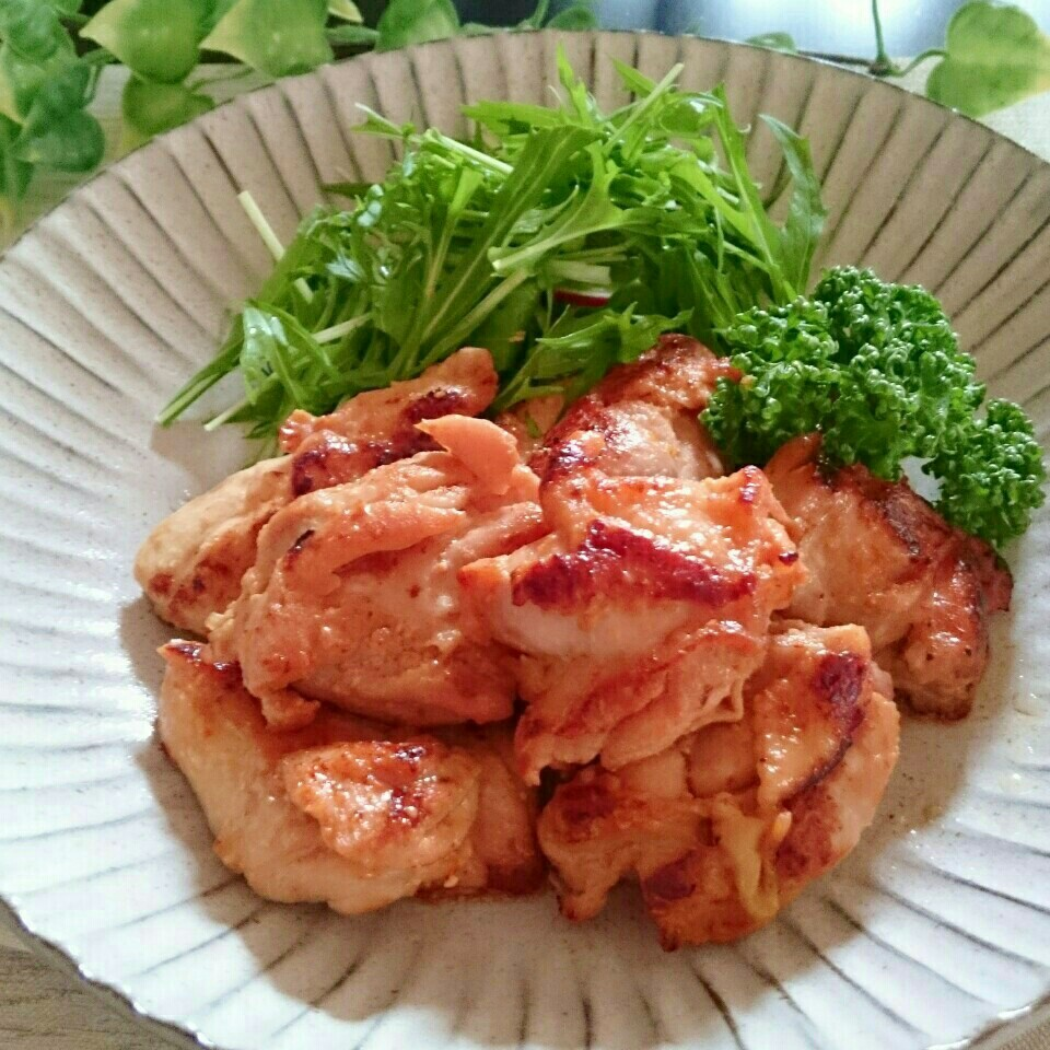 7. 鶏もも肉の味噌焼き