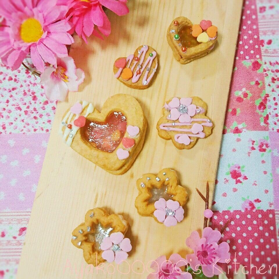 桜型のシャカシャカクッキーの画像