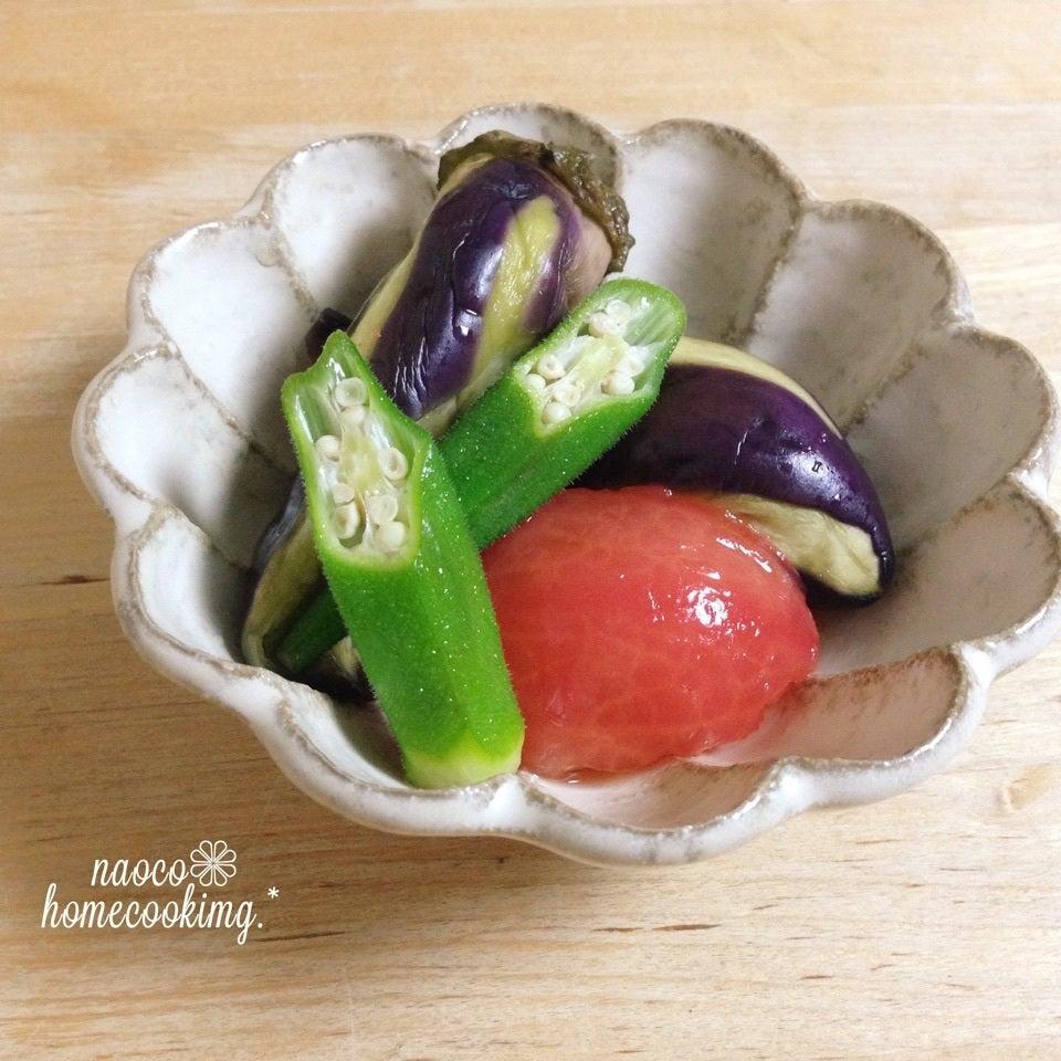 レンジ蒸し野菜の簡単煮浸し
