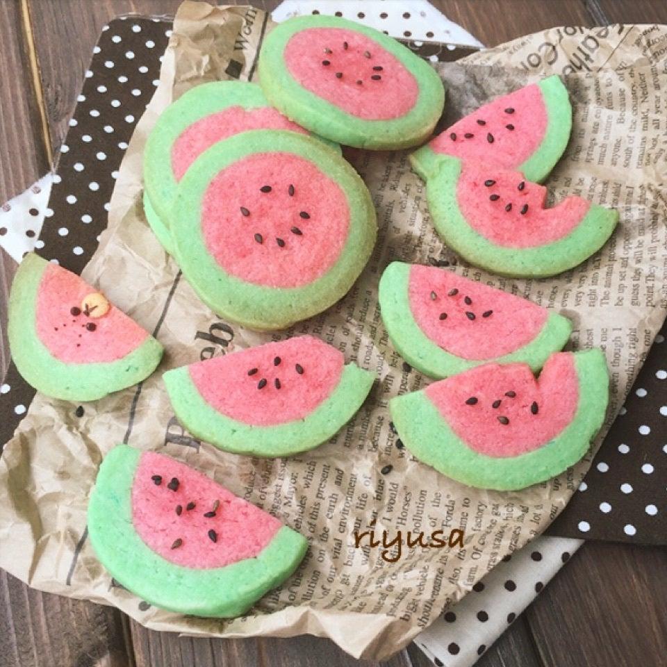 簡単かわいい!スイカクッキーの作り方