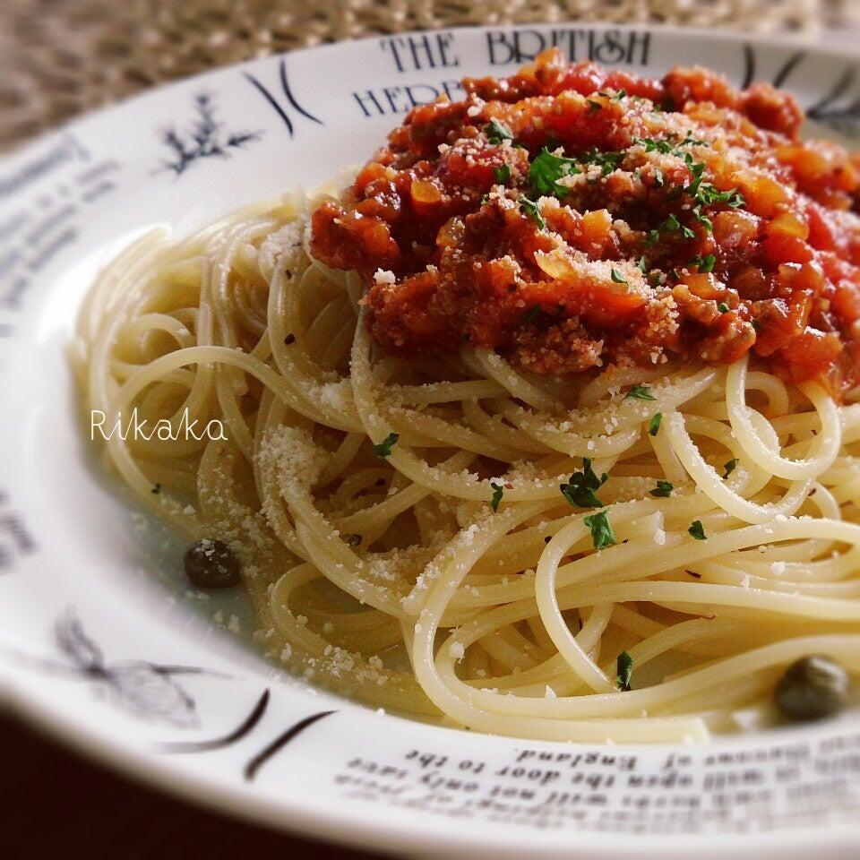 シンプルなミートスパゲティ