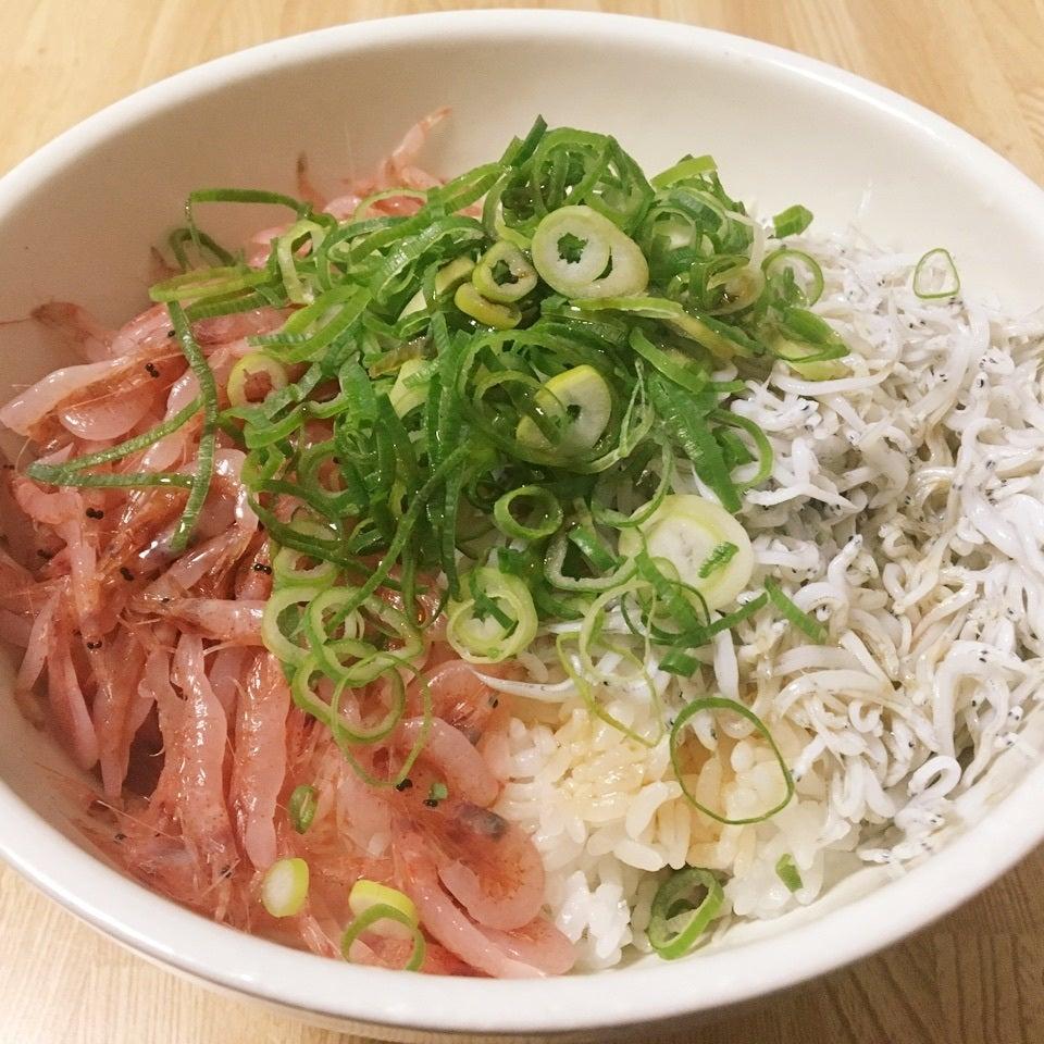 生桜えび&しらすの二色丼
