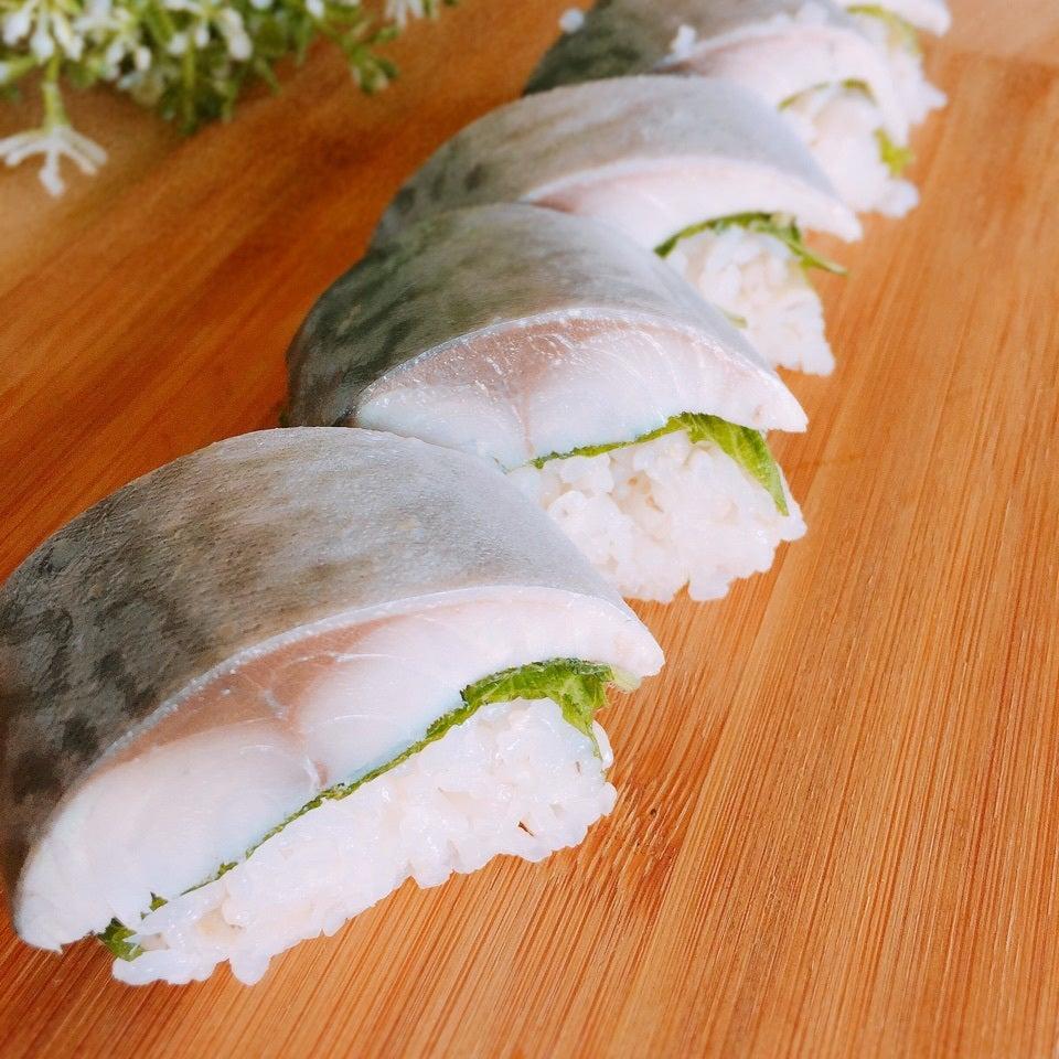 しめ鯖の棒寿司の画像